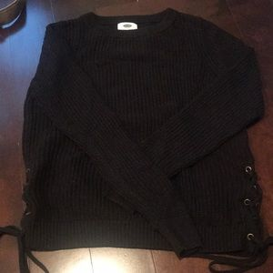 Black sweater with side detail